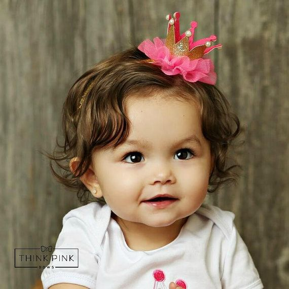 Newborn Crown,1st Birthday Crown, Baby headbands,  Newborn Baby Crown, Baby crown headband,Princess Crown Headbnad, Glitter Crown Headband.