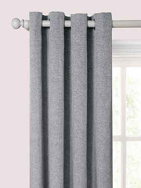 Sark eyelet curtain range in gunmetal