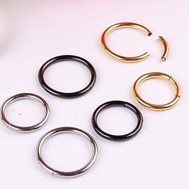roestvrij staal segment dicht hoepel neusring stud piercing lichaam sieraden dimater 8mm – EUR € 4.74