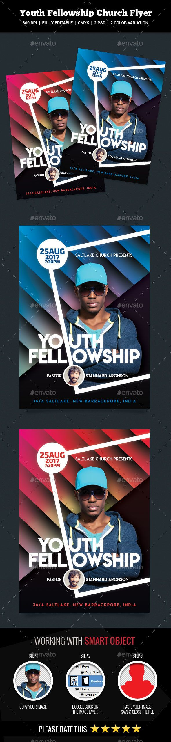 Youth Fellowship Church Flyer - #Church #Flyers