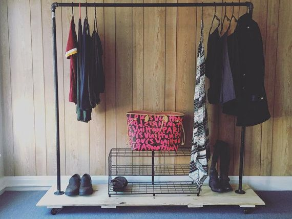 clothing rack garment rack rustic by