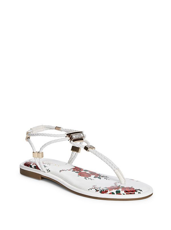 3380f3841d352 Coin Stretch-Cord Strappy Sandals | GuessFactory.com | Guess ...