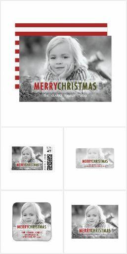 Modern Christmas Photo Holiday Card Collection