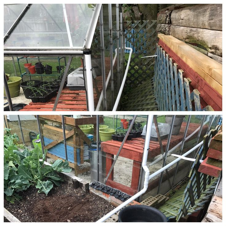 Made a cheap gutter system for the greenhouse. Still cheaper than the proper kit and all from local plumbers merchants! Not the prettiest but perfectly functional and now will help keep the garden dry! #gardening #garden #DIY #home #flowers #roses #nature #landscaping #horticulture