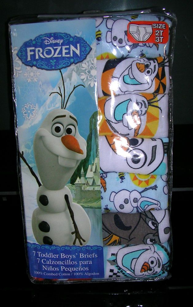 "latest out -   #disney frozen ""olaf""   boy's 7 pr  pkg briefs  size 2t/3t  nwt #a from $13.99"
