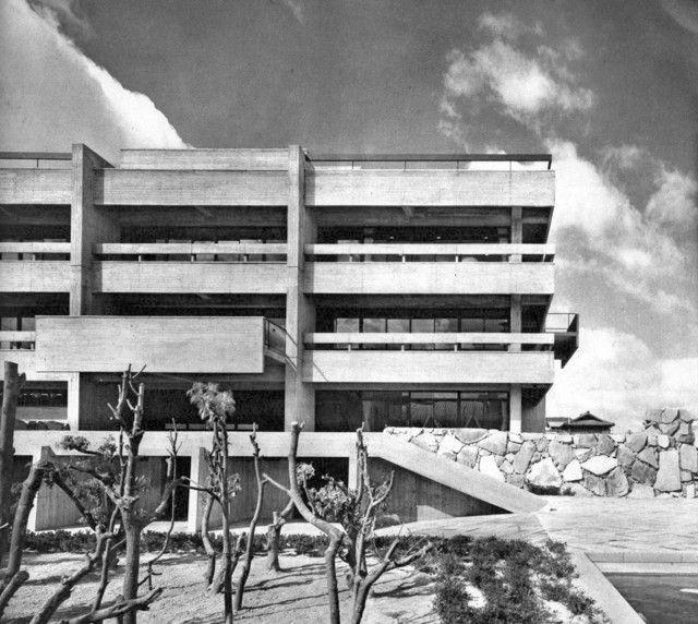Wonderful Kagawa Prefectural Library, Takamatsu, Japan, 1963 (Yoshinobu Ashihara U0026  Associates)