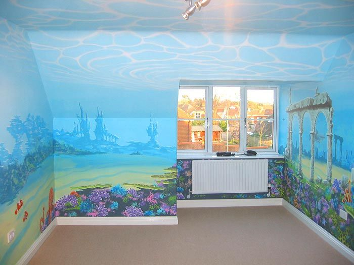 28 best images about underwater murals on pinterest for Underwater mural ideas