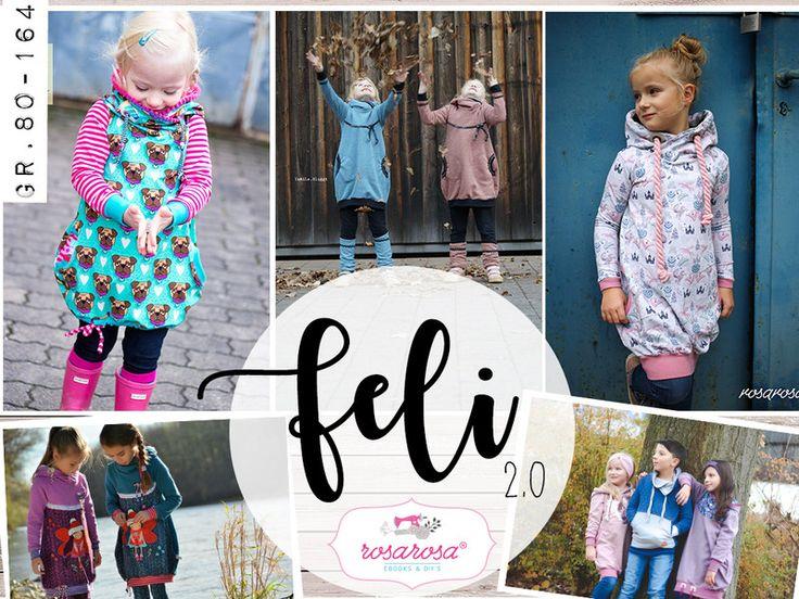 Nähanleitungen Kind - Feli 2.0 ♥ Ballontunika Gr 80 - 164 - ein Designerstück von rosarosa-shop bei DaWanda