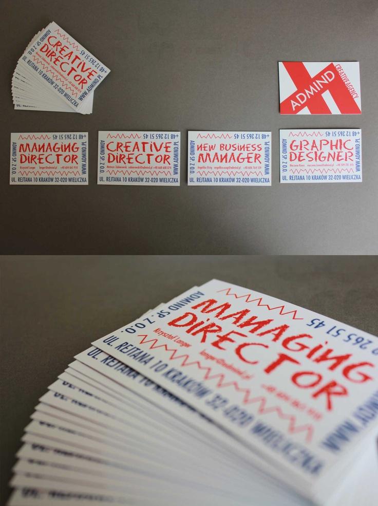 #identity #business card #Admind Creative Agency