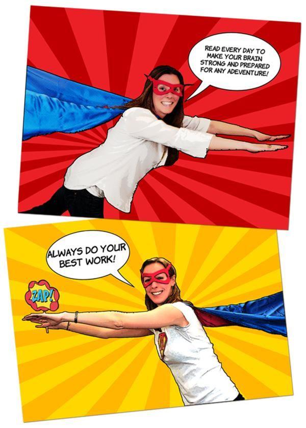 Teacher appreciation week superhero party with printables via Kara's Party Ideas KarasPartyIdeas.com
