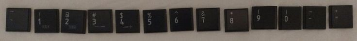 Number Key Caps from Toshiba Satellite L755 / MP-09M83US6920 Laptop Keyboard #Toshiba