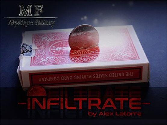 If you are looking for a trick that you can always carry with your cards and that will fry your audience, Infiltrate is for you. You will receive all you need to make this visual wonder, including the downloadable instructions which teach you how to build or fix the #gimmick step by step.