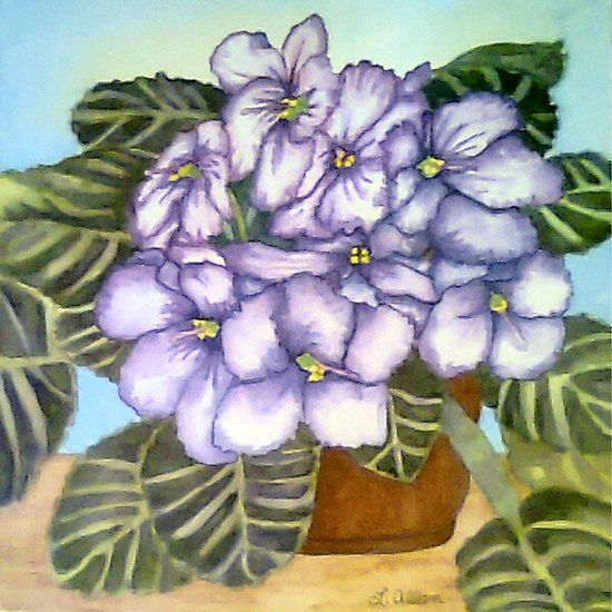 African Violet Watercolor