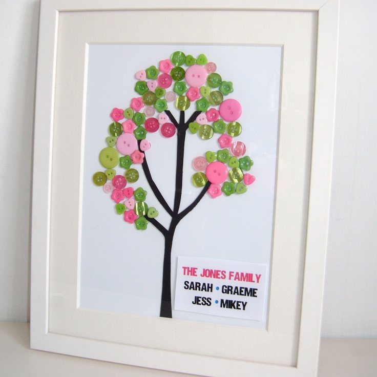 Button Tree Art Pinterest
