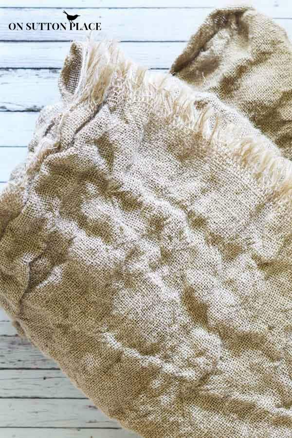 how to wash burlap   after wash and dry  !!