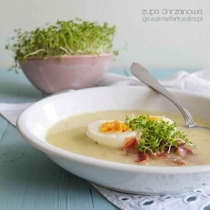 Pyszna i lekka zupa chrzanowa z szynką parmeńską - doskonała zupa na wielkanoc!