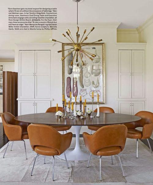 white modern dining room gold sputnik chandelier round table, yas
