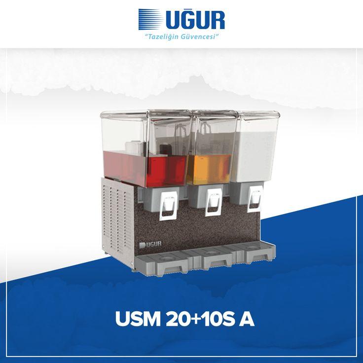 USM 20 + 10S A birçok özelliğe sahip. Bunlar; meşrubat ve ayran için mükemmel teşhir imkanı, yüksek ve düşük kıvamlı içecekler için çeşitli hacim seçenekleri, marka uygulaması yapabilen şeffaf hazne, çelik gövde ve temizlik işlemlerinin etkin bir şekilde yapabilmesine imkan verecek şekilde ayırabilen parçalar. #uğur #uğursoğutma