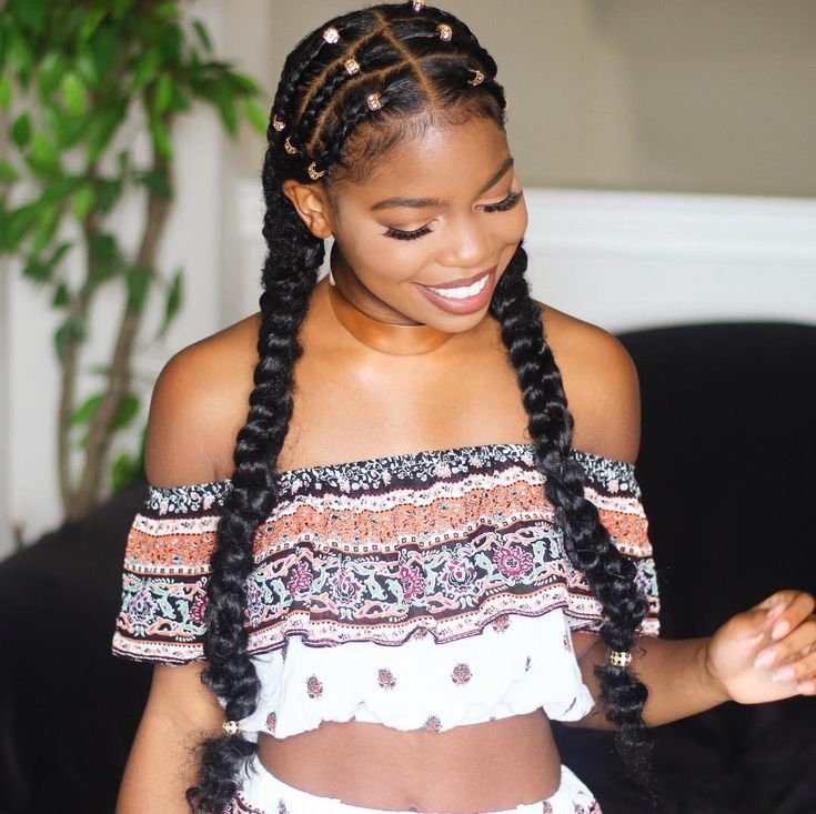 Two Twisted Braids With Symmetrical Cornrows
