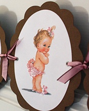 Exclusive line of vintage baby shower invitations and handcrafted party goods with charming graphics from the 1940s and 1950s.