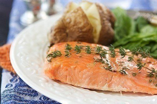 SALMON AND CHEESE