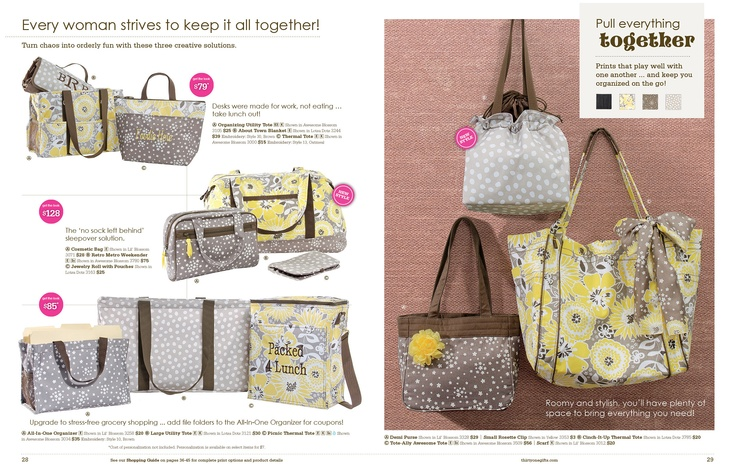 Love the NEW SPRING LINE......such pretty patterns and gifts!!    https://www.mythirtyone.com/79569