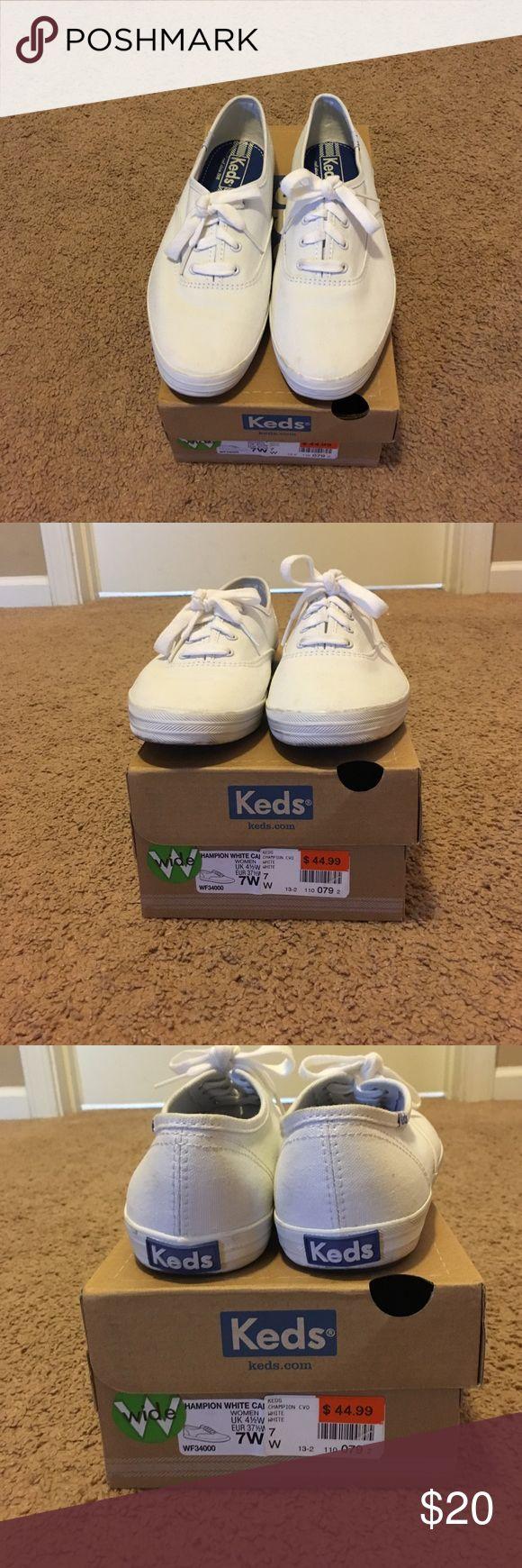 Keds Champion white canvas Keds champion white canvas EUC worn one time Keds Shoes