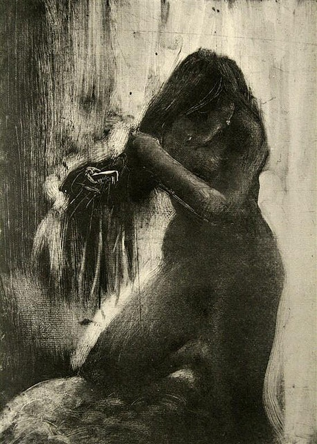 Monoprint by Degas by Jewett Art Gallery, via Flickr