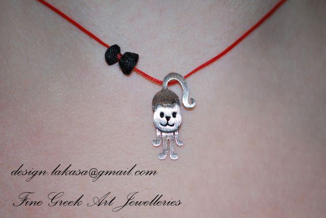 #cat #necklace #jewelry #joyas #mujer #woman #moda #silver #jewellery #catlover #catjewelry #cute #handmade #gift