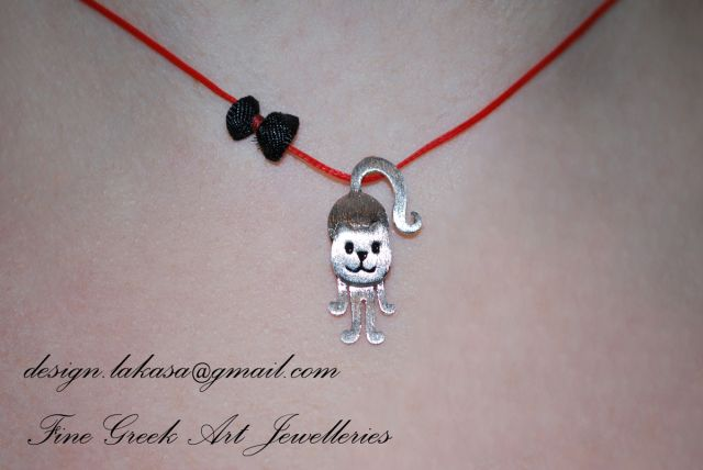 #cat #necklace #jewelry #joyas #mujer #woman #moda #silver #jewellery #catlover #catjewelry #cute #handmade #gift