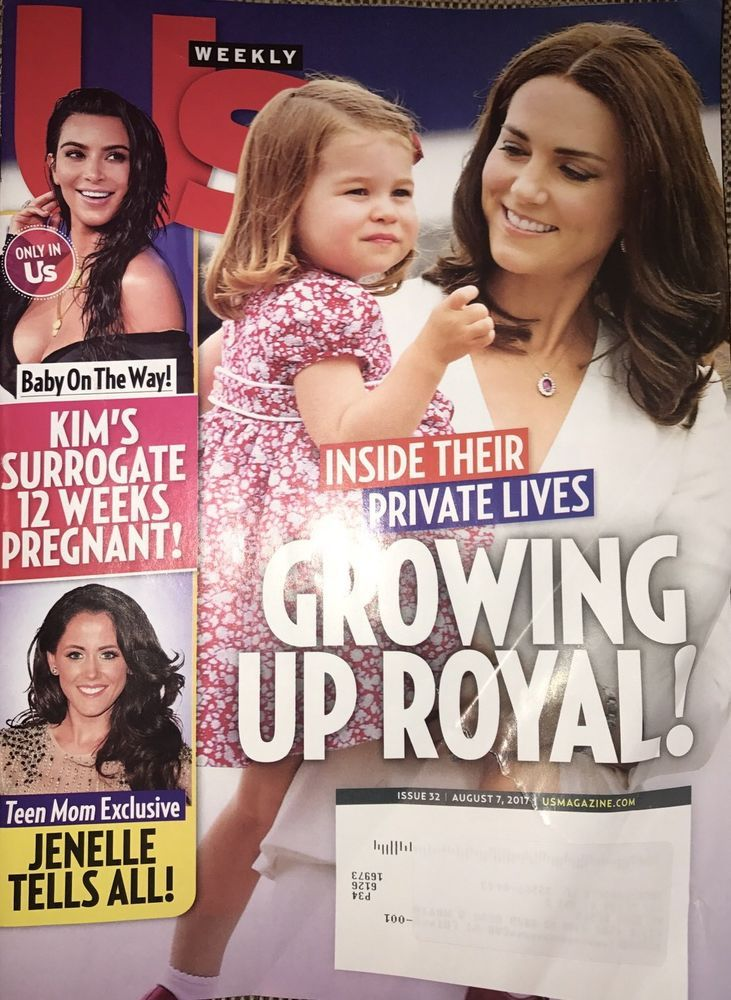 Us Weekly Magazine August 7 2017 Growing Up Royal TEEN MOM Kim's Surrogate  | eBay