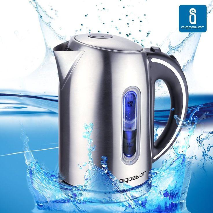 Hervidor de Agua en Acero Inoxidable con Iluminación LED Capacidad 1,7 Litros                                                                                                                                                                                 Más
