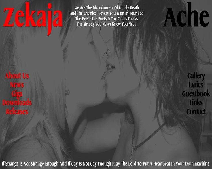 Layout and design for the former band ZekajaAches website. #Keini