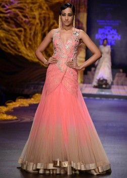 Gaurav Gupta modern pink dress for wedding reception 2013 #shaadibazaar indian wedding dress