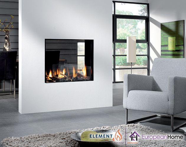 The Bioptica By Element4 And Imported By European Home Is A Frameless See Through Gas Fireplace See Through Fireplace Contemporary Gas Fireplace Gas Fireplace