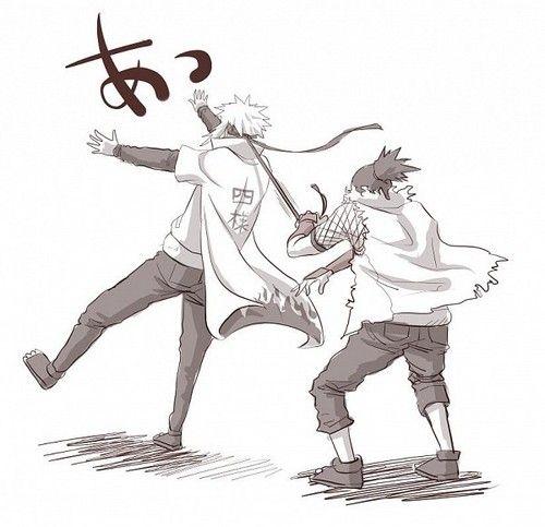 Minato and Naruto fan art | Minato xD - Minato Namikaze Fan Art (30395555) - Fanpop fanclubs