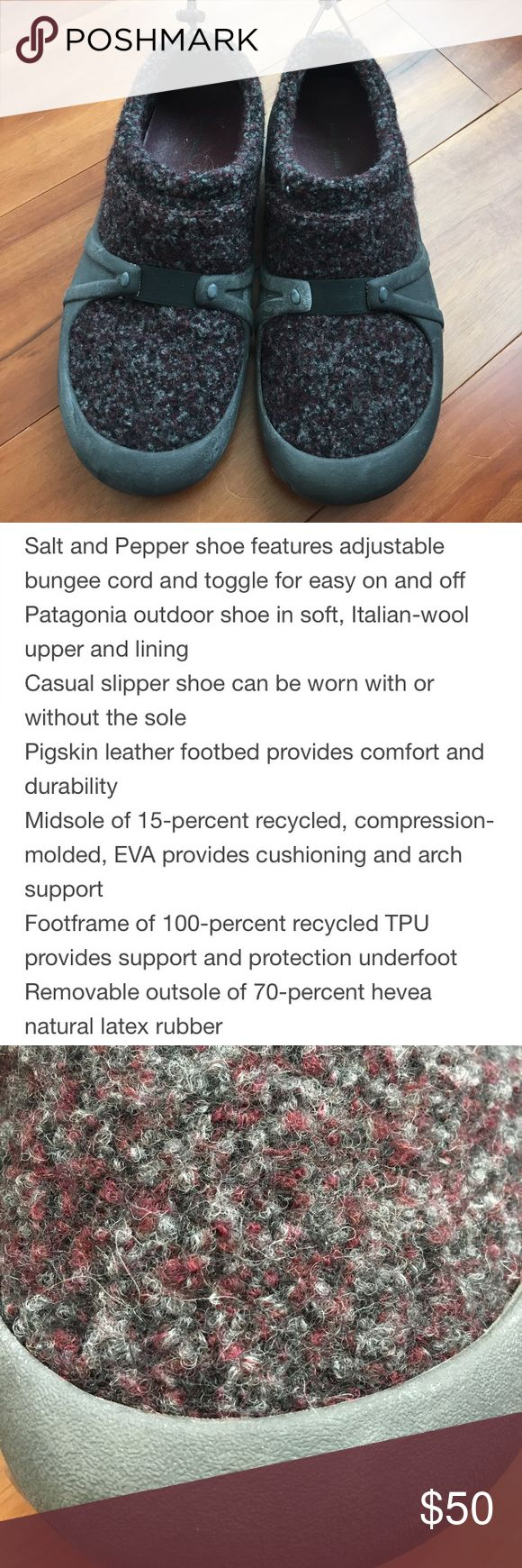 Patagonia shoes Gorgeous Patagonia salt&pepper slip on shoes. Excellent condition. Patagonia Shoes Moccasins