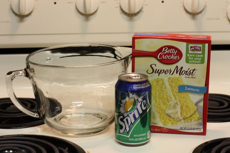 Sprite Cake or cupcakes. I use white cake mix and diet sprite. NO FAT OR CALORIES! Except whatever is on the box