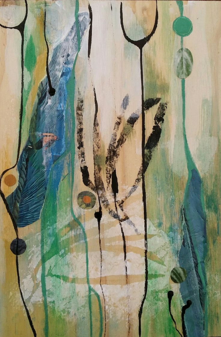 Cafeiq Art Workshop in mixed media painting