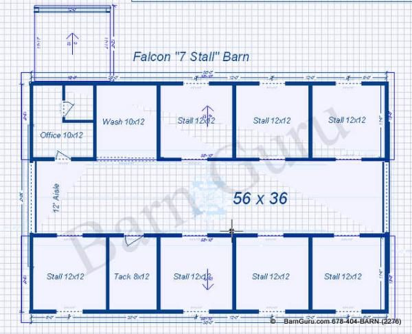 7 Stall Horse Barn Plans....7 Would Be The Perfect Number!