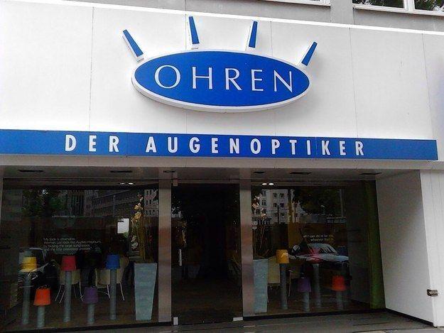 Als sich Herr Ohren dafür entschied, Optiker zu werden. | 19 Dinge, die nur in Deutschland passieren konnten