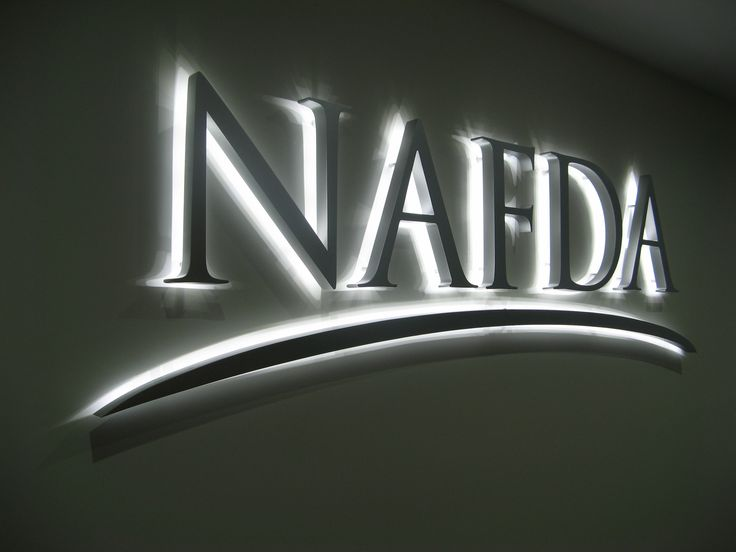 NAFDA #CSI #3D #lettering #custom #sign #CAD #extrusion #signage #name #letter #word #corporate #school #recognition #identity #design