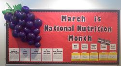March is National Nutrition Month Bulletin Board.