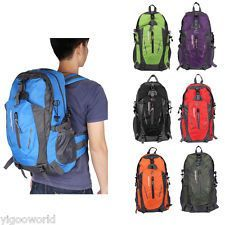 40L Waterproof Outdoor Sport Bag Hiking Camping Rucksack Travel Backpack Luggage