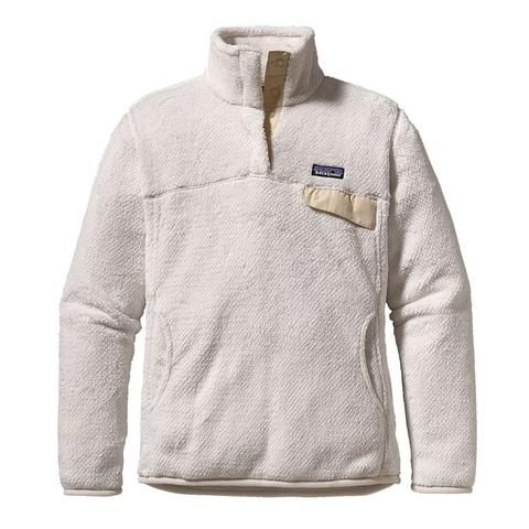 Patagonia Women's Re-Tool Snap-T Pullover- Raw Linen and White