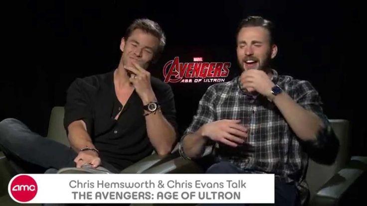 Chris Hemsworth & Chris Evans Chat/Laugh-a-thon THE AVENGERS: AGE OF ULTRON