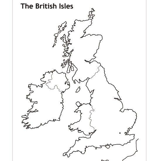 blank outline map of British Isles Legendary Women of World