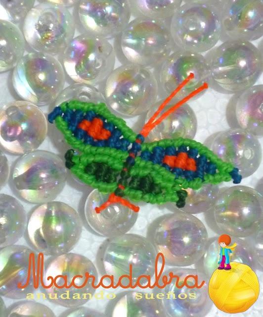 #Macrame Mariposas Verdes