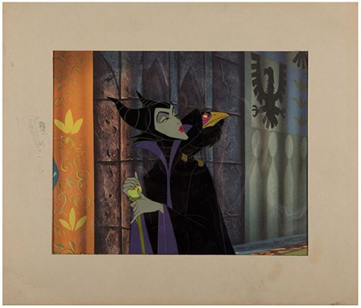 "Lot: Original ""Sleeping Beauty"" Production Cel., Lot Number: 0490, Starting Bid: $750, Auctioneer: Potter & Potter Auctions, Auction: Movie & Music Memorabilia, Date: March 12th, 2017 AEDT"