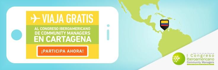 Participa por un viaje a Cartagena al #CongresoCommunityManagers 2012 Clic aquí: ning.it/MBss3h